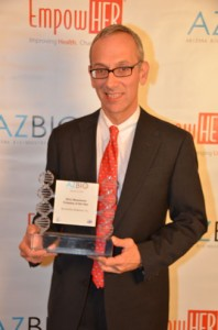 SynCardia co-founder and Chairman Dr. Marvin J. Slepian, an internationally renowned interventional cardiologist at University Medical Center (UMC) receives 2011 Bioscience Company of the Year honors on behalf of Syncardia Systems, Inc.