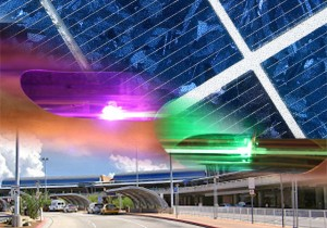 Artists rendering of new solar art planned for Tucson Airport