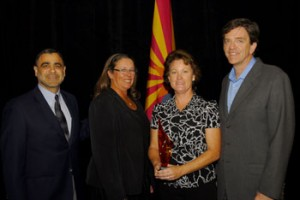 The Team from Cancer Prevention Pharmaceuticals celebrates receiveing their Arizona Innovation Challege Grant from the Arizona Commere Authority with AZBio CEO Joan Koerber-Walker