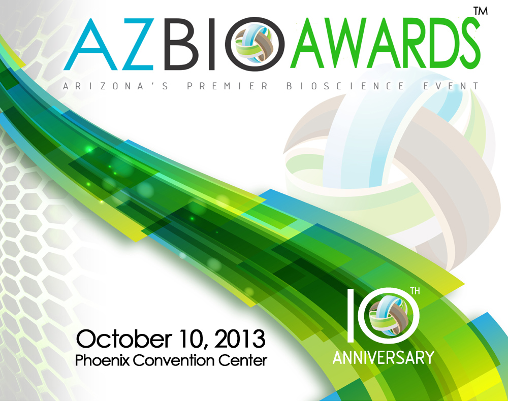 AZBio Awards 2013 logo 10 10