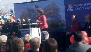 Linda Hunt at the UACC Groundbreaking