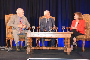 David Larwood of Valley Fever Solutions, Gaspar Laca of GSK, and Debbie McCune Davis of TAPI  (Photo by Mark Goldstein)