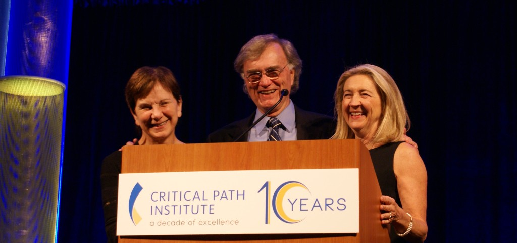 Janet Woodcock, Ray Woosley and Martha Brumfield joined C-Path team members, community leaders and friends to celebrate the Critical Path Institute's 10 year anniversary.