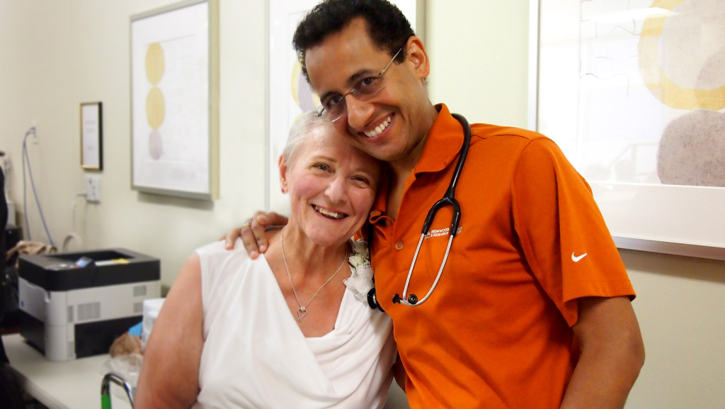 Diane and Dr. Suda at the Chandler Regional Medical Center (Dignity Health)