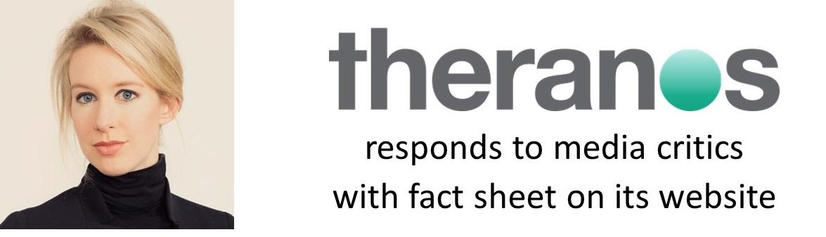 theranos fact sheet 1