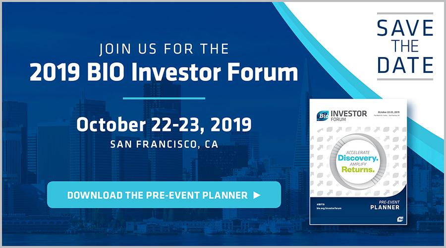 BIO Investor Forum 2019