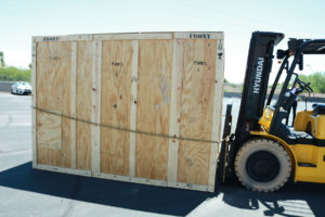 PADT unloads the HUGE F900 at its Tempe headquarters. (Photo courtesy of PADT)