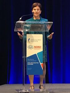 Janet Woodcock, MD, Director for the Center for Drug Evaluation and Research (CDER), delivered opening remarks at the launch of the Rare Disease Cures Accelerator-Data and Analytics Platform on Tuesday, September 17, in Rockville, MD.