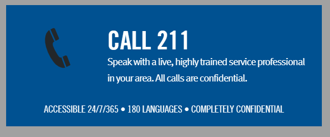 Need Assistance?  Call 211