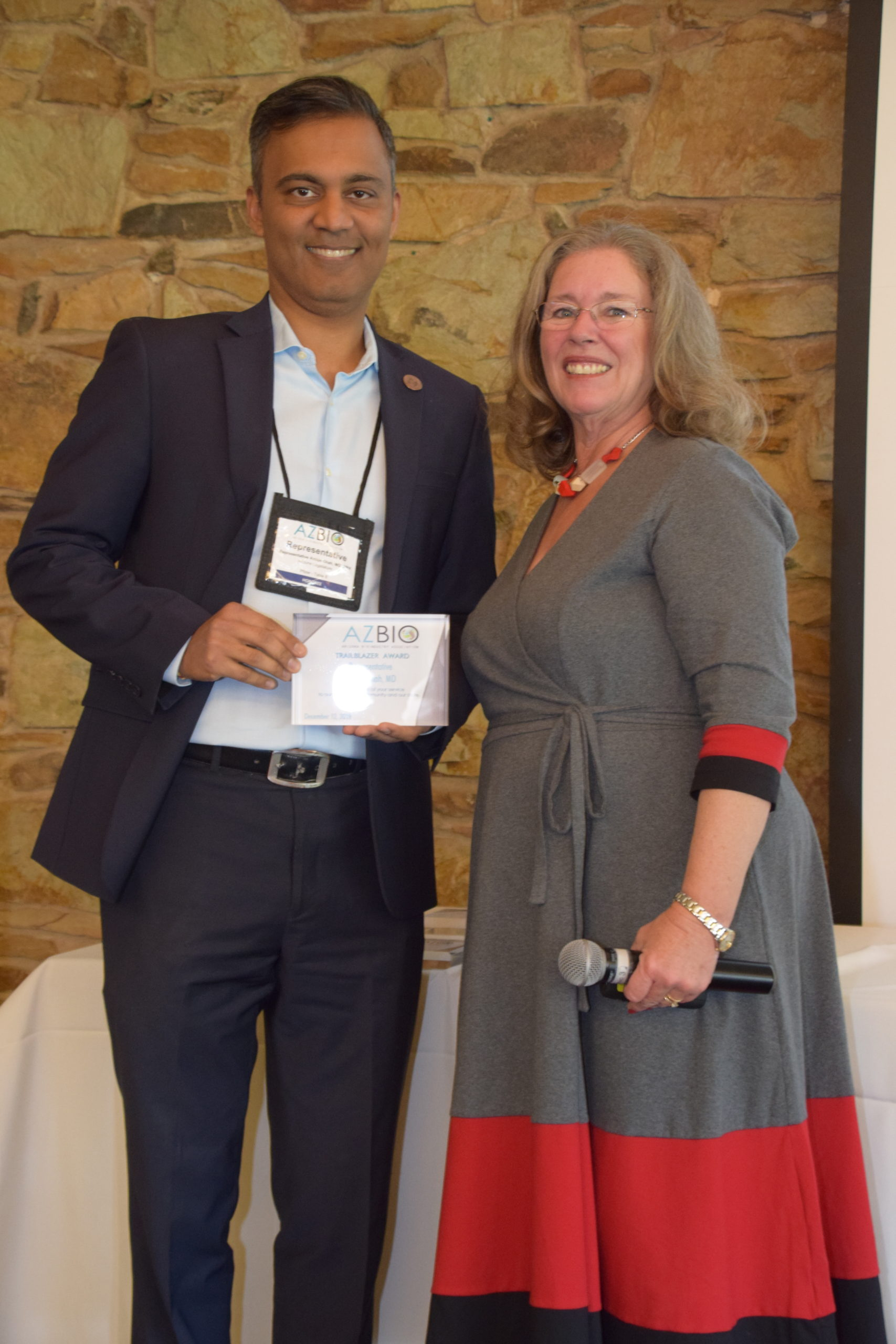 Emergency Physician and Arizona Legislator, Dr. Amish Shah, was honored as an AZBio Trailblazer in December for his leadership at the state legislature in 2019.