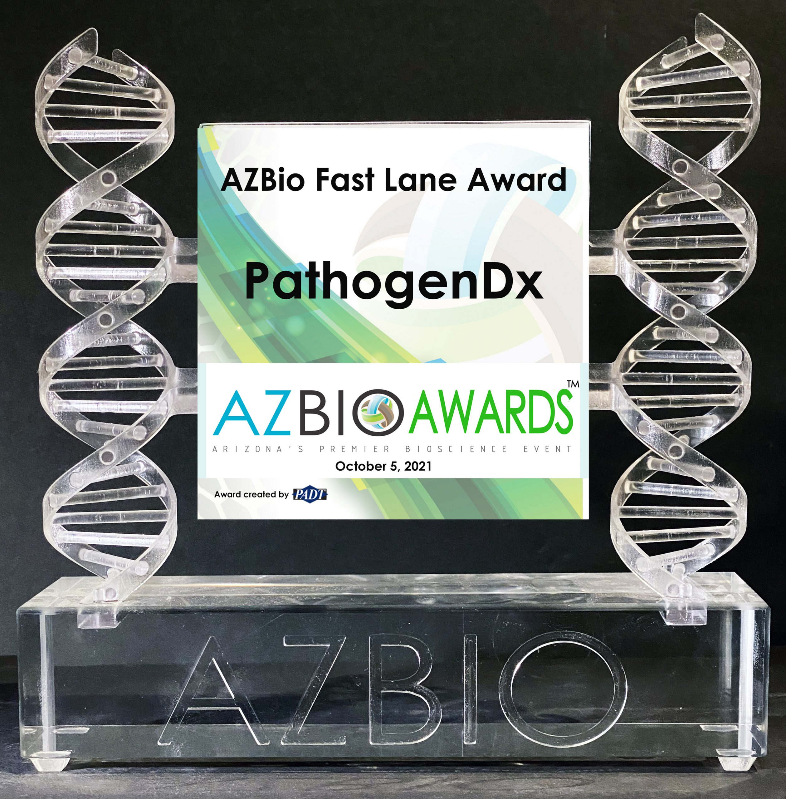 PathogenDx is being honored with a 2021 AZBio Fast Lane Award.